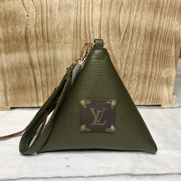 The Fortune Cookie/ Wonton Bag in Army Green