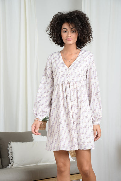 Long Sleeve Babydoll Style Dress