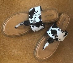 Black and White Pony Print Sandal by Pierre Dumas