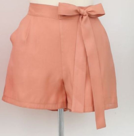High Waist Shorts in Old Pink