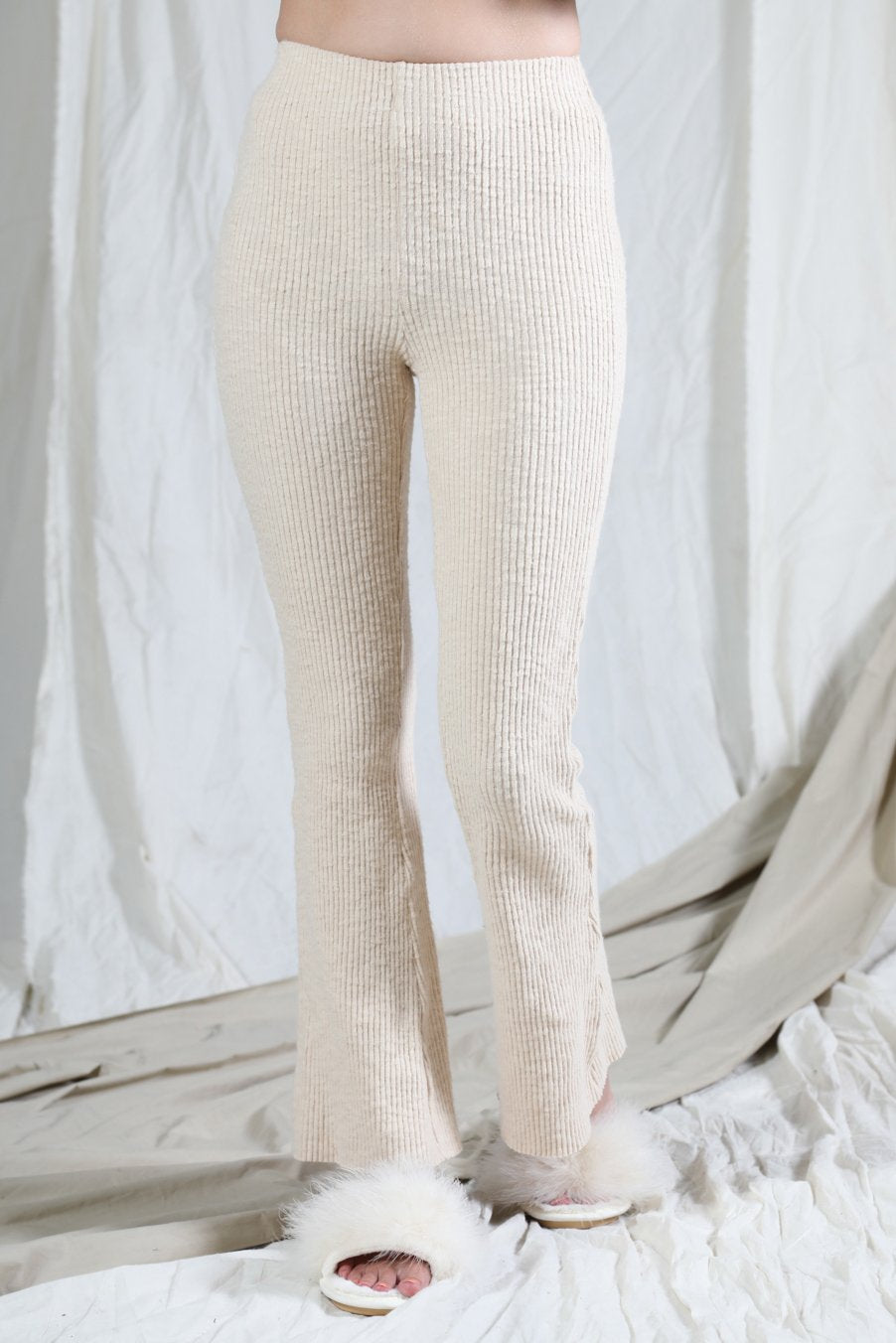 Sweater Knit Ribbed Flare Pant/Legging