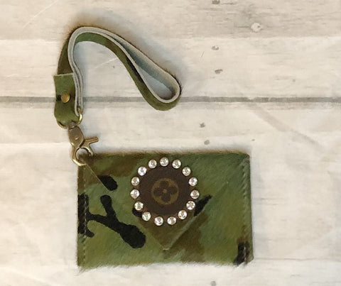 Wristlet Card Holder & KeyChain Camo Print
