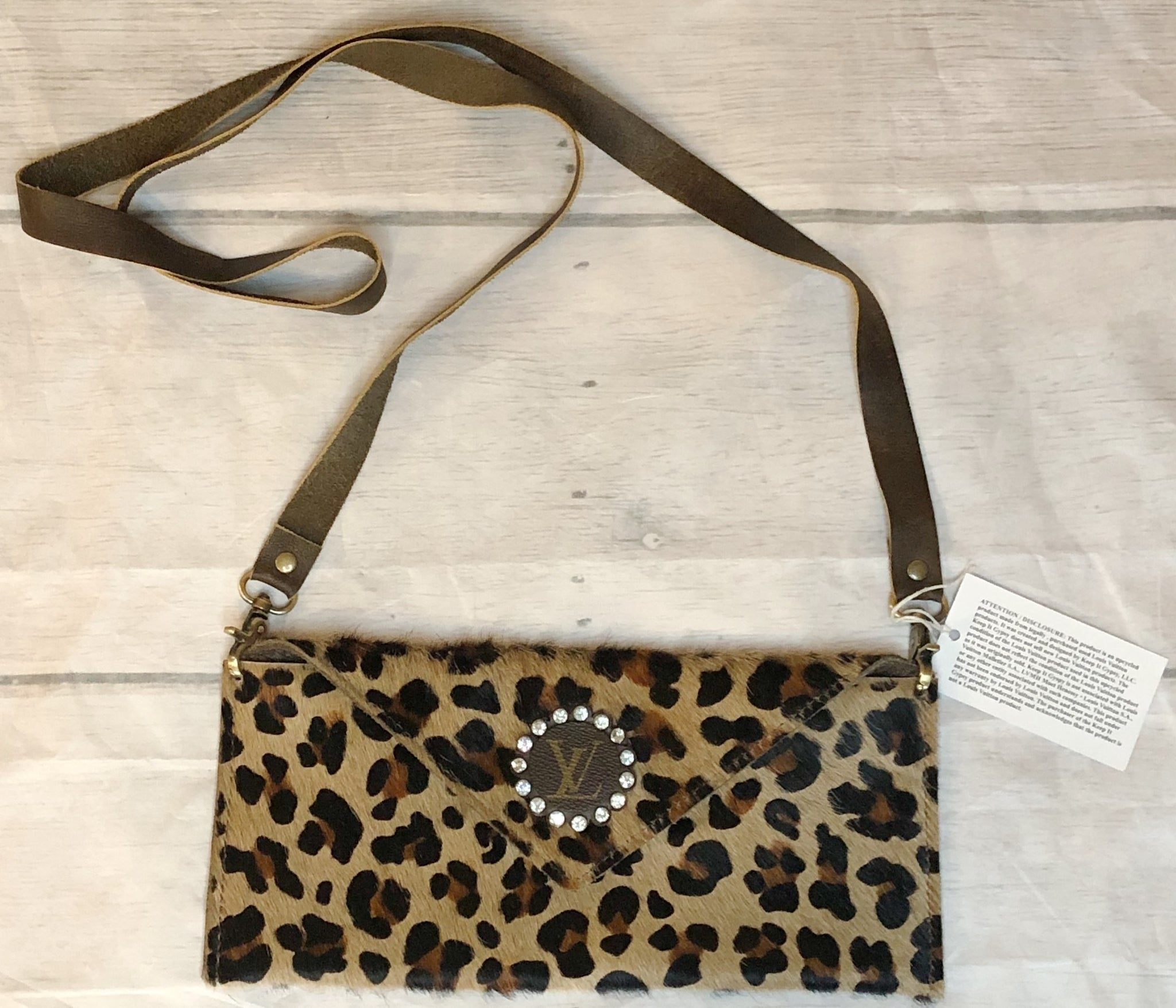 Cross Body in Leopard Print Brown