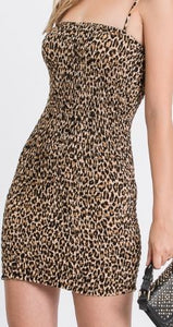 Tube-style Cheetah Print Dress