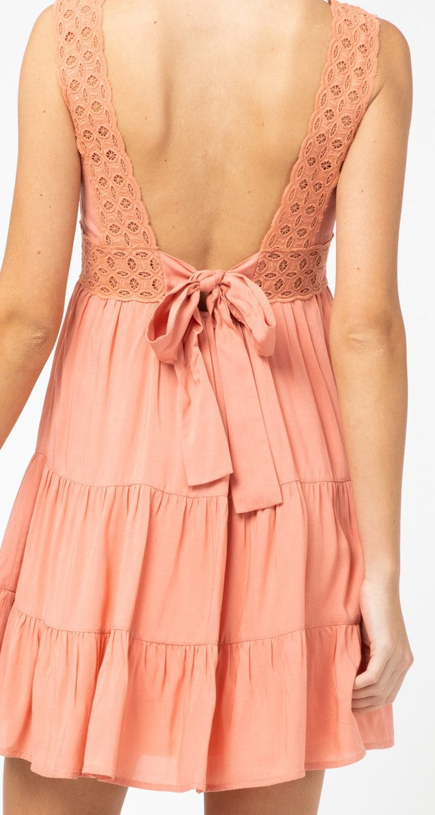 Fit and Flare Flirty Peach Dress