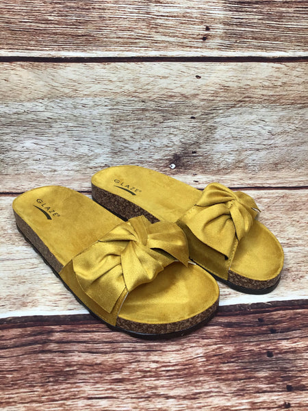 Yellow Bow Sandal