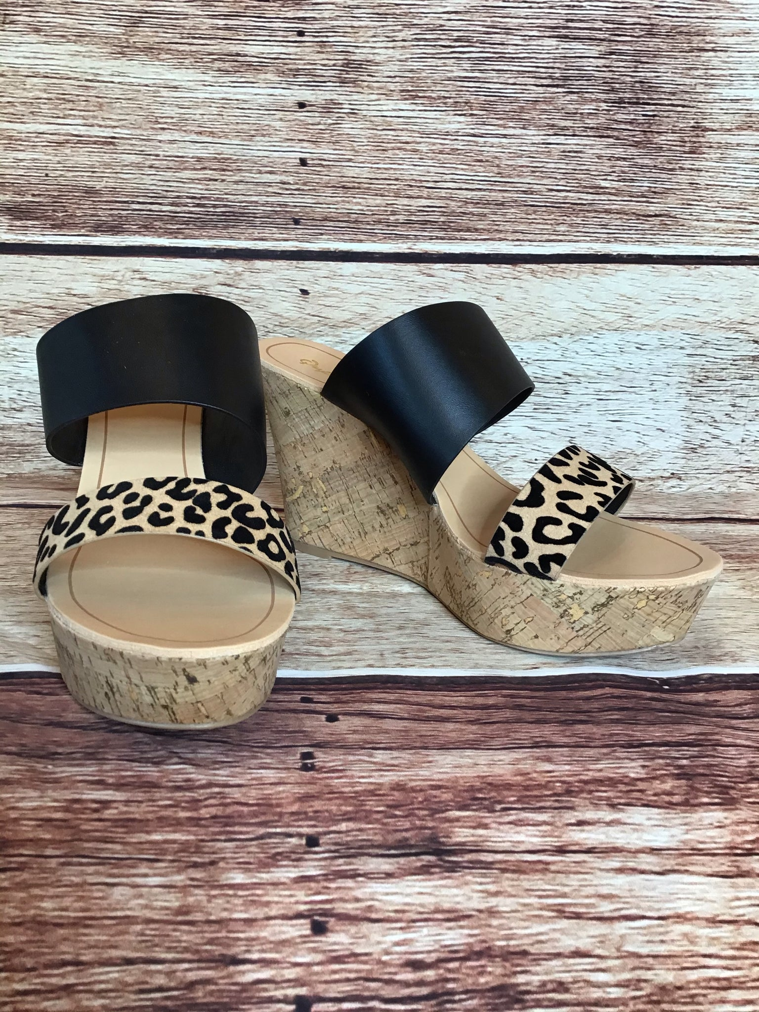 Black and Cheetah Wedge