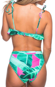 Tropical Two Piece Swimsuit