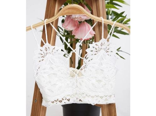 Ivory Lace Bralette - for CURVY TOP GIRLS