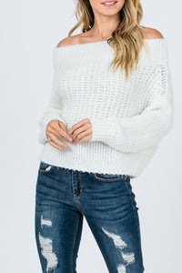 Long Sleeve Sweater in Ivory