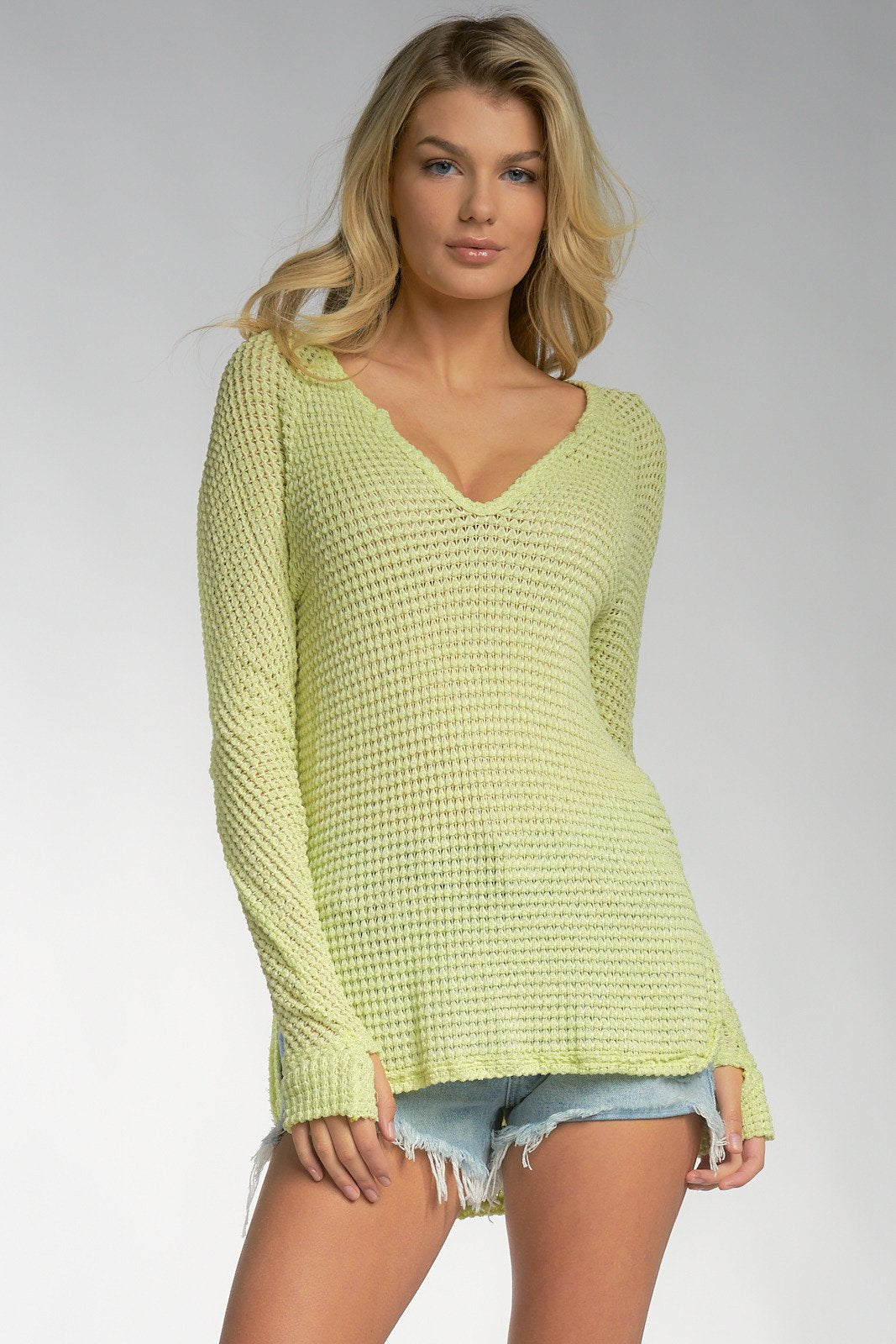 Seafoam Green Long Sleeve Top