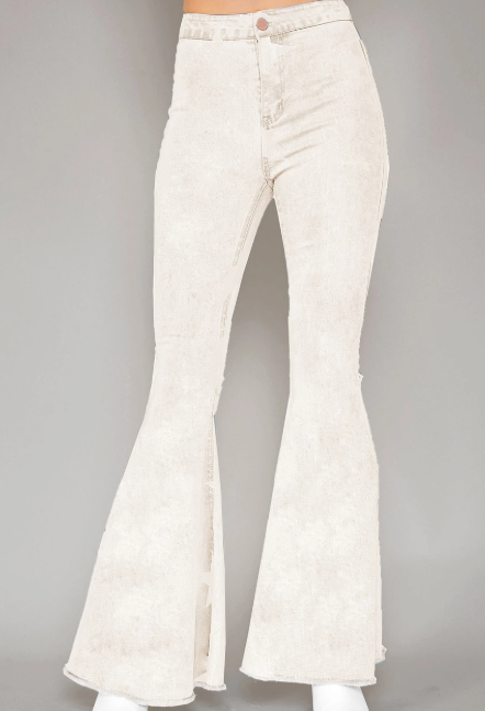 White Flair Bottom Jeans