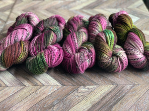 Wool U Knit Fingering Marl - Purple Green