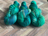 Rustic Marl Fingering - Blue Green