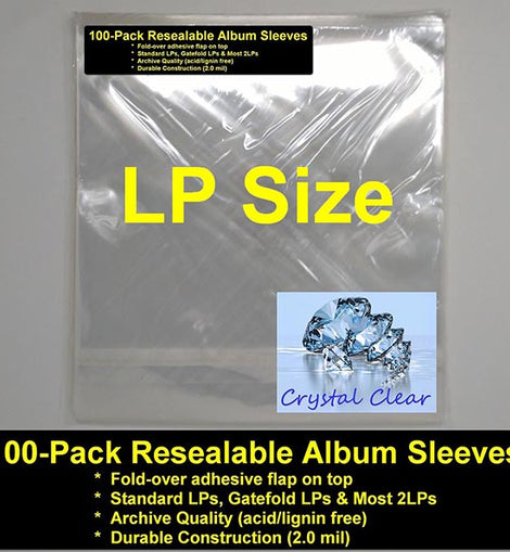 RESEALABLE ALBUM SLEEVES - 100 PACK