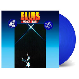 ELVIS PRESLEY • MOODY BLUE • BLUE COLORED VINYL • CUT-OUT