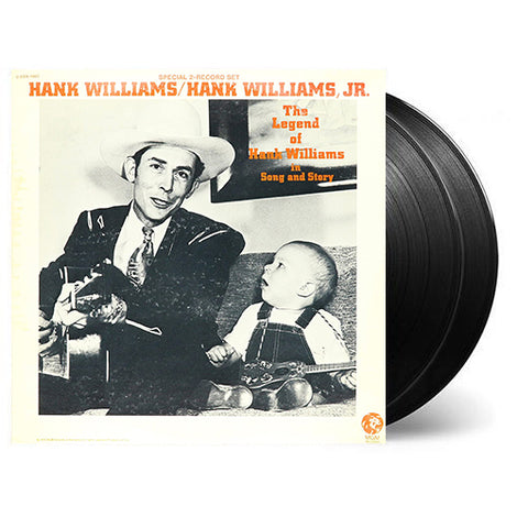 HANK WILLIAMS / HANK WILLIAMS JR. • THE LEGEND OF HANK WILLIAMS IN SONG AND STORY • CUT-OUT • 2 LP