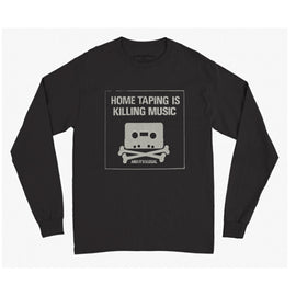 HOME TAPING IS KILLING MUSIC • MEN'S BLACK LONG SLEEVE T-SHIRT