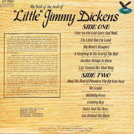 """LITTLE"" JIMMY DICKENS • THE BEST OF THE BEST OF • CUT-OUT"