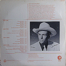 HANK WILLIAMS / HANK WILLIAMS JR. • THE LEGEND OF HANK WILLIAMS IN SONG AND STORY • CUT-OUT