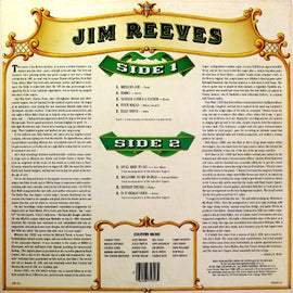 JIM REEVES • COUNTRY MUSIC / TIME LIFE • CUT-OUT