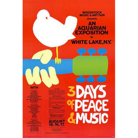 [POSTER] WOODSTOCK • 3 DAYS OF PEACE & MUSIC