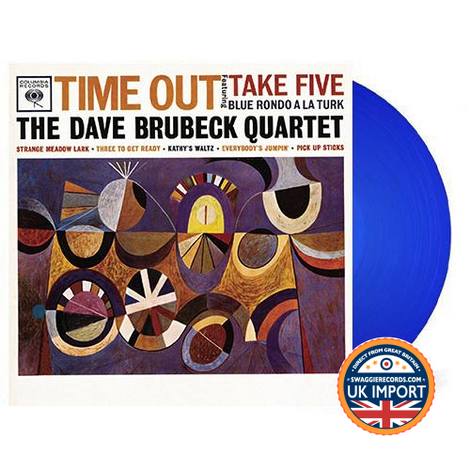 DAVE BRUBECK QUARTET • TIME OUT • BLUE VINYL • U.K. IMPORT