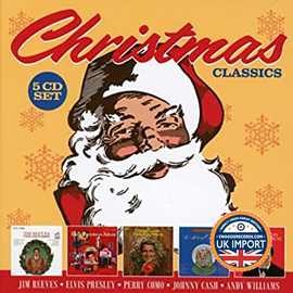 [CD] VARIOUS ARTISTS • CHRISTMAS CLASSICS • JIM REEVES • ELVIS PRESLEY • PERRY COMO • JOHNNY CASH • ANDY WILLIAMS • 5 DISC BOX SET ONLY $ 9.99!!