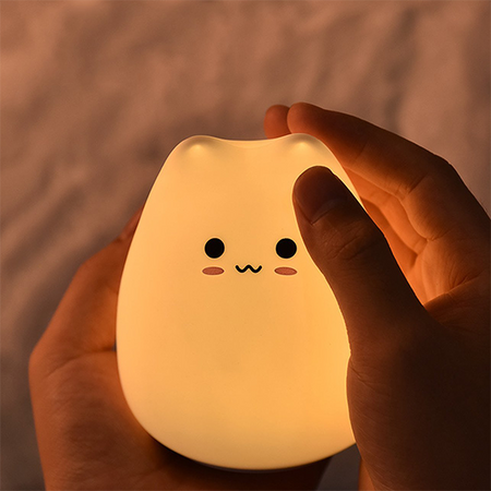 lampe chat led qui est content