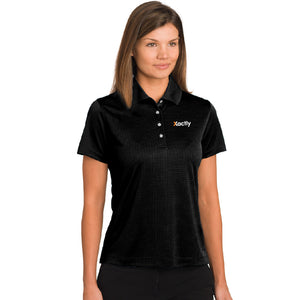 Pebble Beach Ladies' Grid Texture Polo