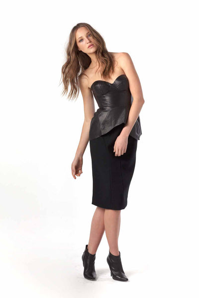 Soft Touch Leather Bodice