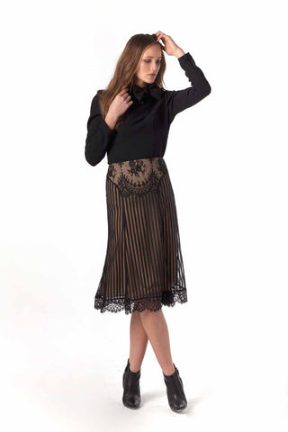 Burton French Lace Fluted Skirt