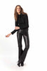 Soft Touch Leather 70s Tuxedo Trouser
