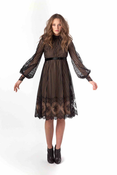 "Burton French Lace ""Elizabeth Collins"" Cocktail Dress"