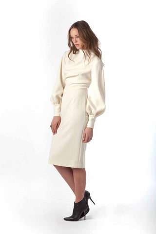 "Double Wool Crepe ""Victoria Winters"" Dress"