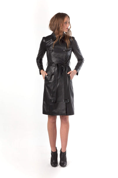 Soft Touch Leather Trench