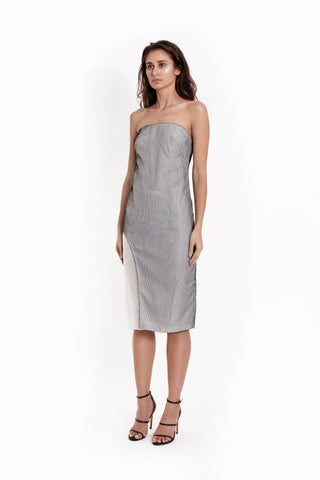 Mesh Strapless Side-Cut Dress