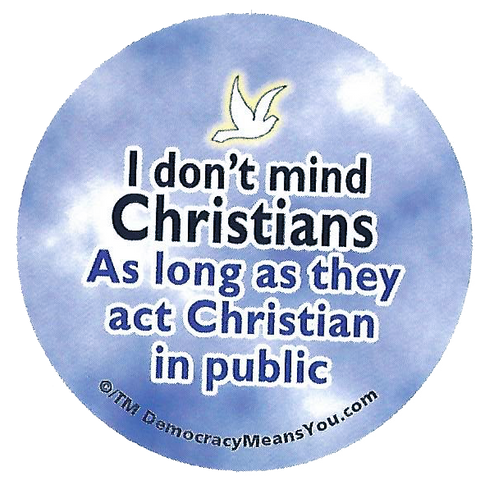 I don't mind Christians button
