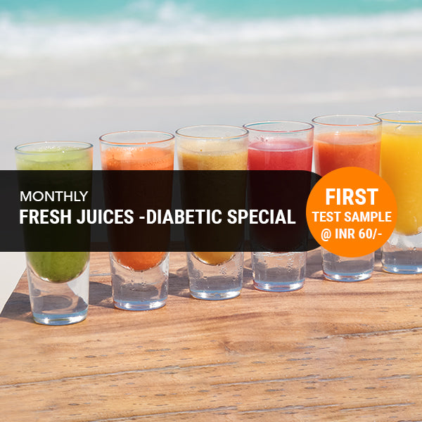 Fresh Juices -Diabetic Special - Monthly Subscription (Free Home Delivery)