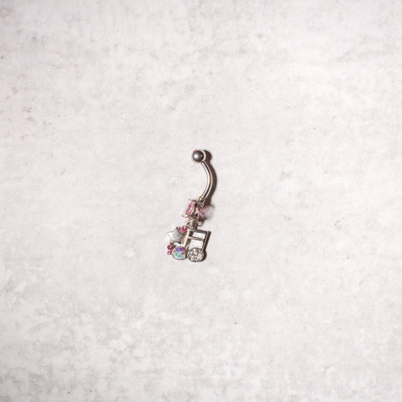 Eighth Note Navel Ring