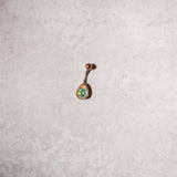 Gold Tone Teardrop Navel Rings