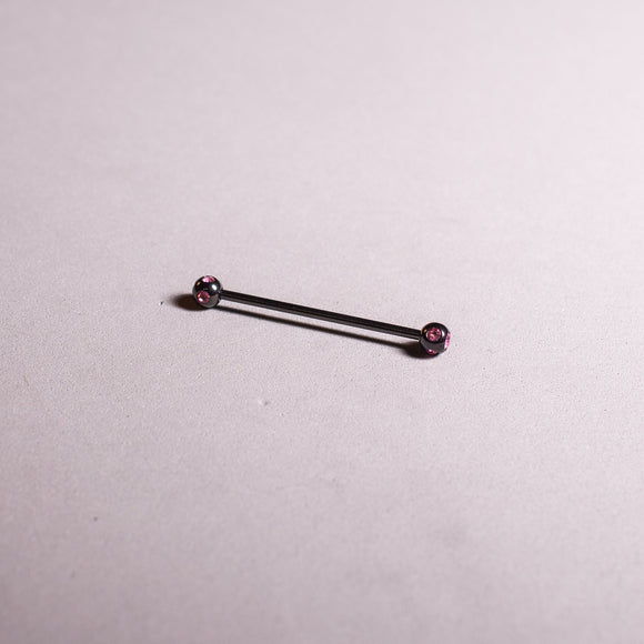 Multiple Gem Black Industrial Bar