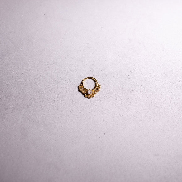 Vintage Lace Filigree Bendable Ring 16G