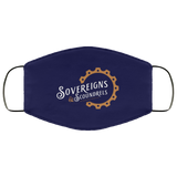 Sovereigns and Scoundrels Face Mask - White and Copper Logo