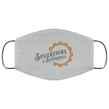 Sovereigns and Scoundrels Face Mask - Grey and Copper Logo