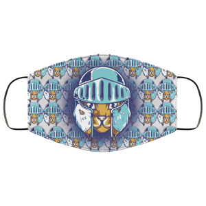 Cat Knight Pattern Face Mask