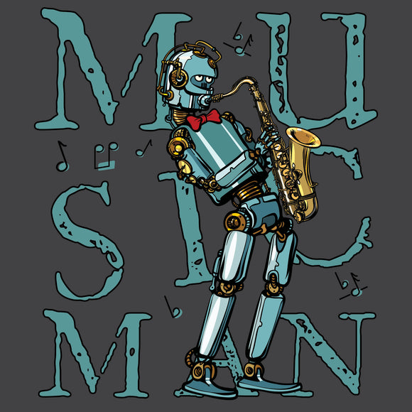 Hip Robot with Saxophone