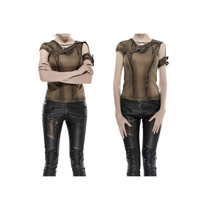 Ripley Brown Top by Punk Rave