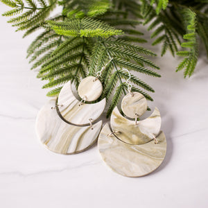 Olive Marble Earrings by Street Spirit Jewelry