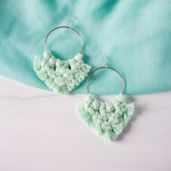 Macrame Hoops by Street Spirit Jewelry